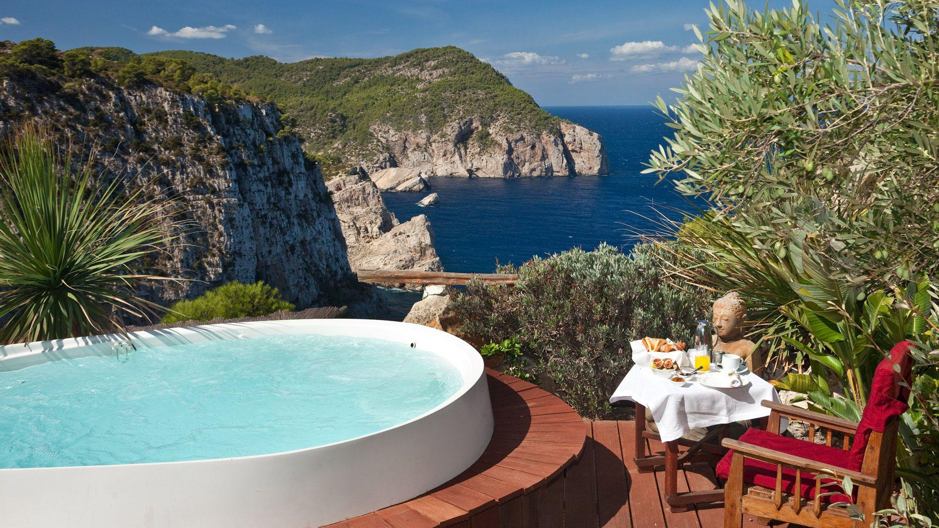 Hotel Spa De Lujo En Ibiza Hacienda Na Xamena Off The Coast Of Spain