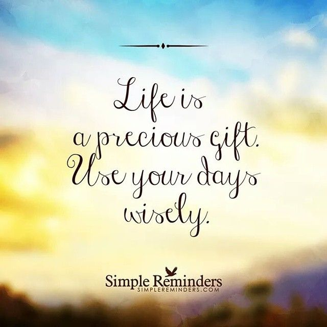 Life Is A Precious Gift Life Quotes Quotes Quote Life