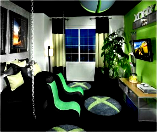 21 Truly Awesome Video Game Room Ideas U Me And The Kids I Just Love The Rug Yo Gamer Bedroom Video Game Rooms Gamer Room