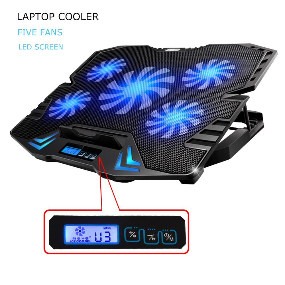 12 15 6 Inch Laptop Cooling Pad Laptop Cooler Usb Fan With 5