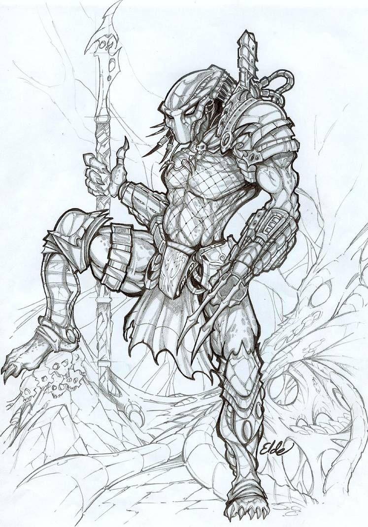 Predator in Alien Hive by bearcavestudios on DeviantArt