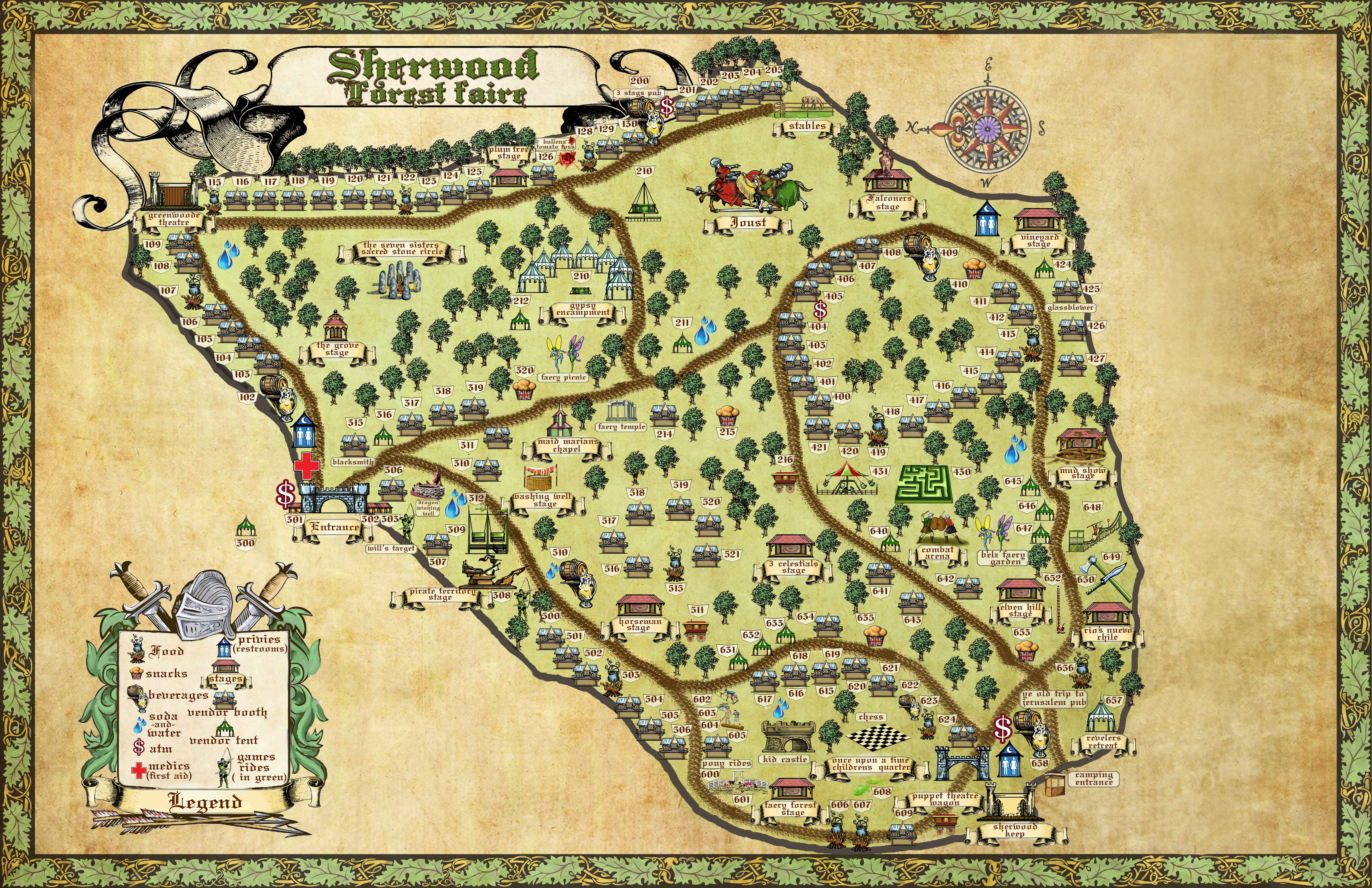 Sherwood Forest Map 2013 Sherwood Forest Faire Map McDade, Tx March 2015 | Awsome  Sherwood Forest Map