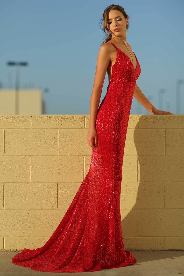 Gigi sequin gown red formal dresses pinterest formal dresses