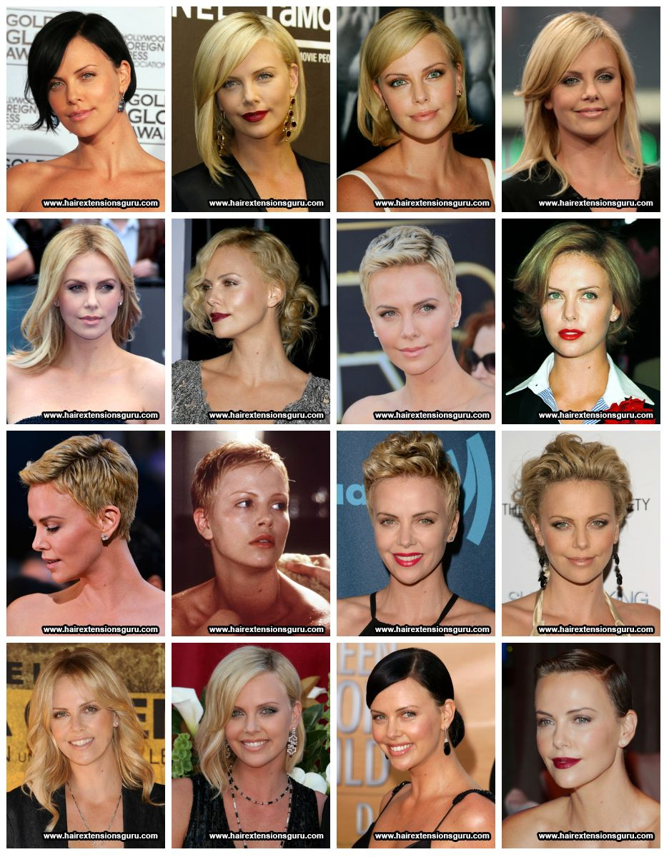 Charlize Theron Short Hairstyles Celebrity Hairstyles Pinterest
