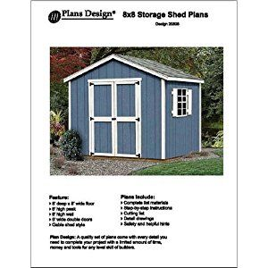8' x 8'Classic Gable Storage Shed Project Plans -Design #20808