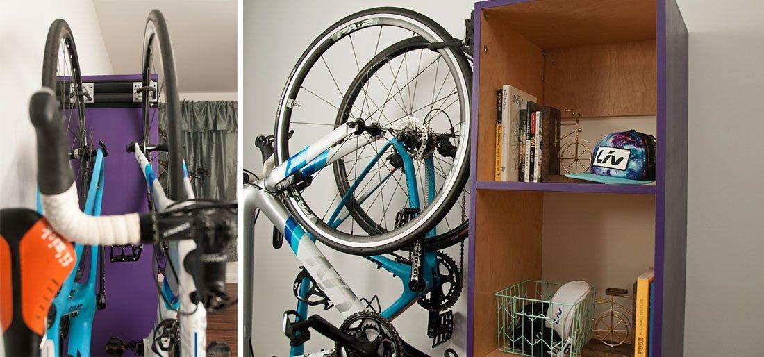 Hang Your Bikes With Images Indoor Bike Storage Bike Storage