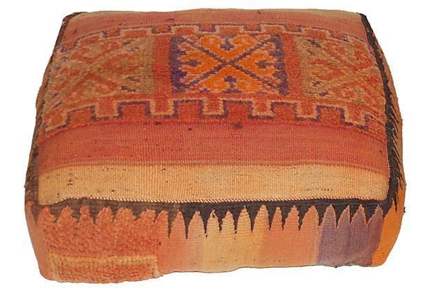 Moroccan Kilim Pouf On Onekingslane Com With Images Vintage