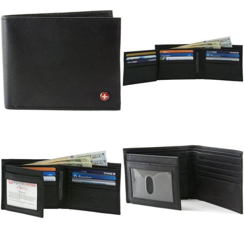 a2ad332af Alpine Swiss Hombre cartera de cuero genuino sección 12 ranuras para  tarjetas Flip a ventana ID | Ropa, calzado y accesorios, Accesorios para  hombre, ...