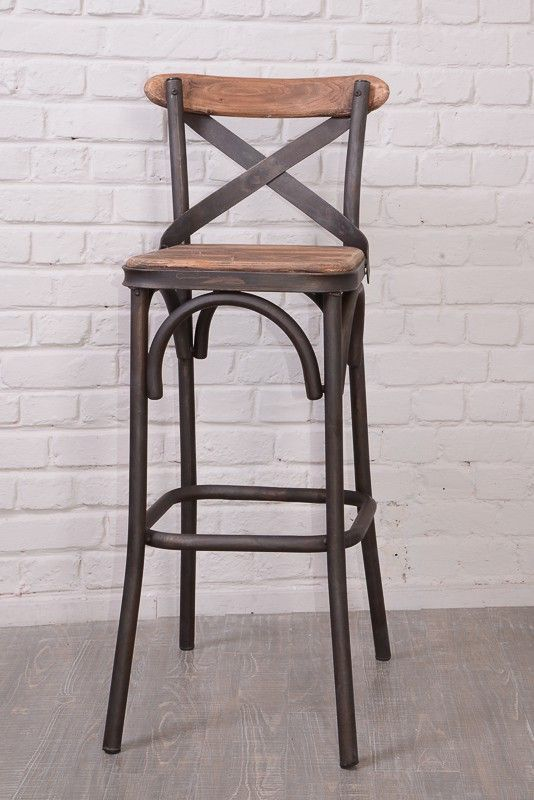 """Tabouret De Bar Fer Et Bois - Chaise de bar Loft""""Nola"""" bar Pinterest Tabouret bar, Tabouret et Bar"""