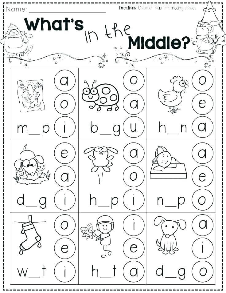 Phonic Worksheets for Preschoolers Practice Beginning