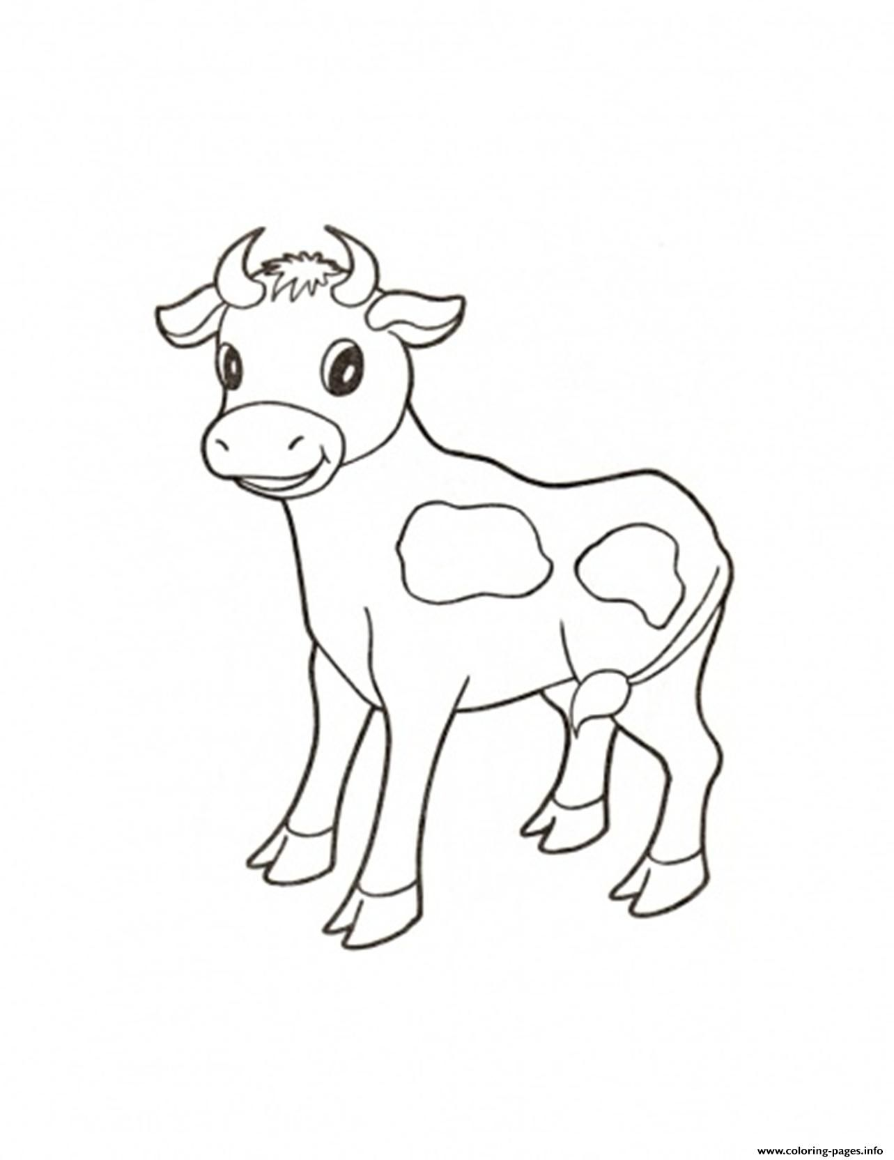 Print Cute Calf Farm Animal S32ee Coloring Pages Tegninger
