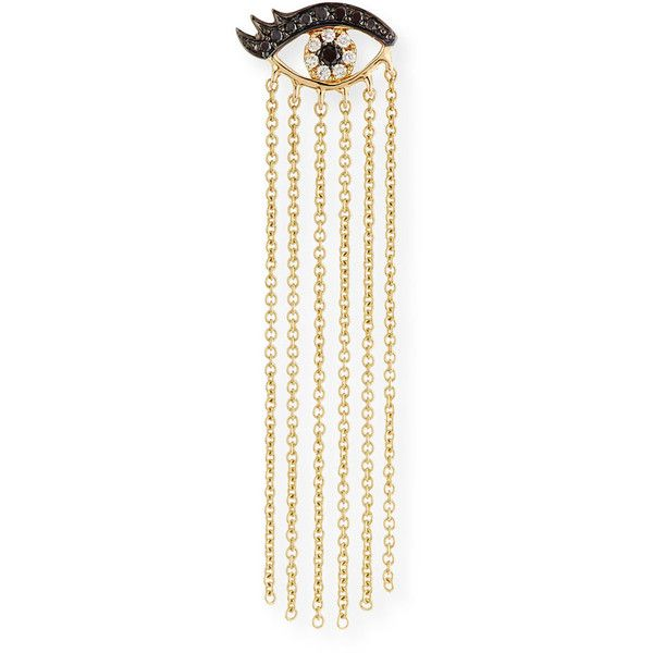 Sydney Evan 14K Long Fringe Lash Stud Earring with Diamonds LvZ9Ttdh