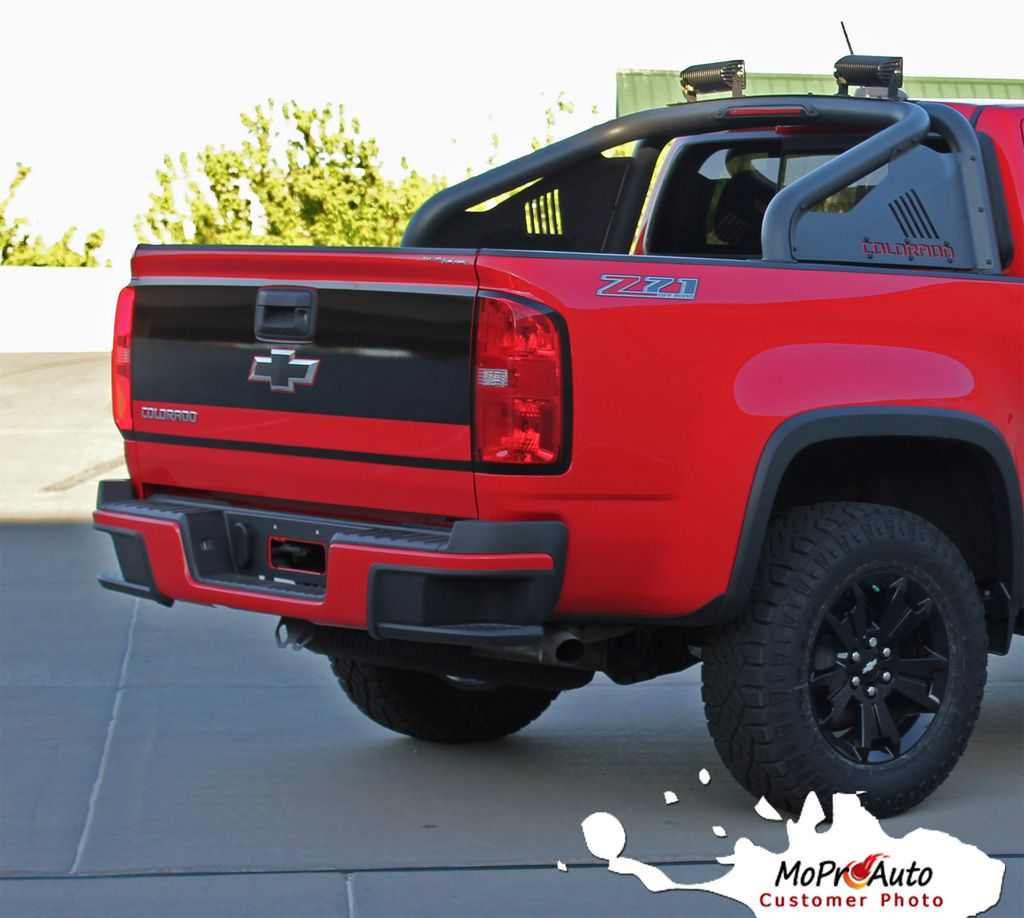 2015 2016 2017 chevy colorado grand tailgate blackout accent vinyl graphics decals and stripes