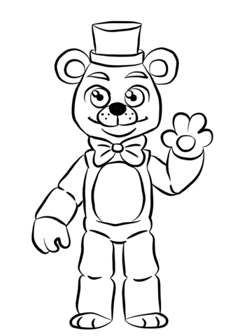 fnaf coloring pages free FNAF Golden Freddy Coloring page | FNAF | FNAF, Fnaf golden freddy  fnaf coloring pages free