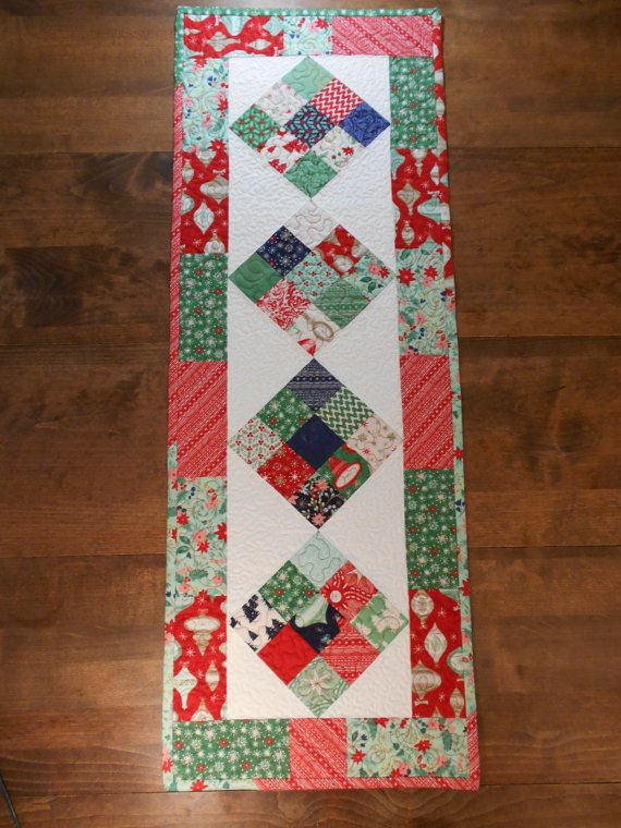 Christmas Table Runner Christmas Table Decor by ChokeCherryHill