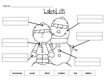 Label it! Fun labeling worksheets with or without word