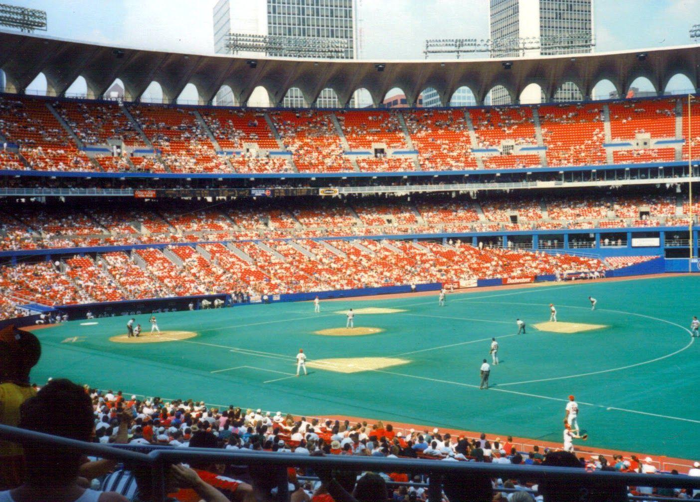 The Astroturf At Old Busch Stadium Busch Stadium Major League Baseball Stadiums Stadium