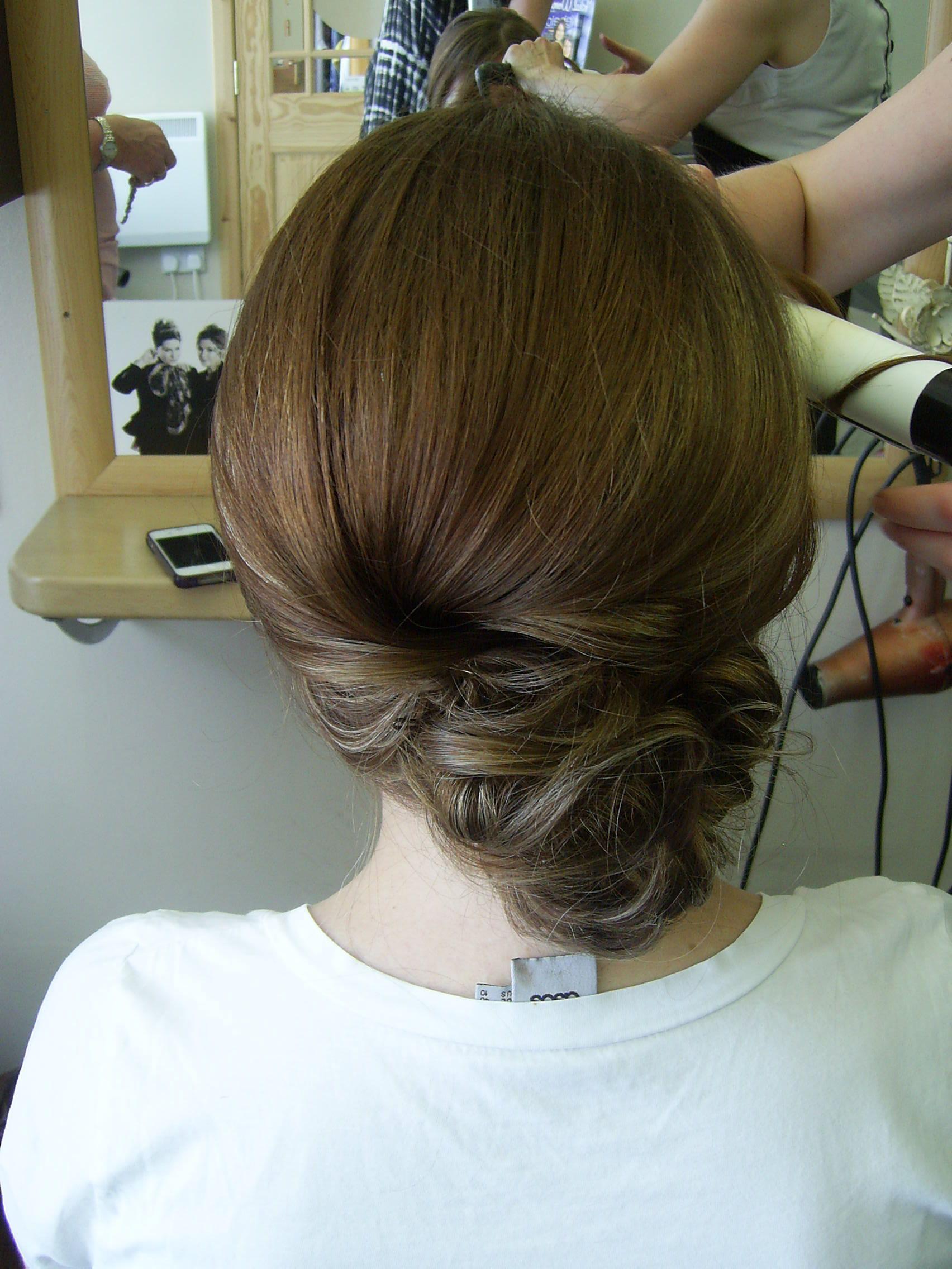 Hair trial for bride pamela leslie wedding hair pinterest wedding