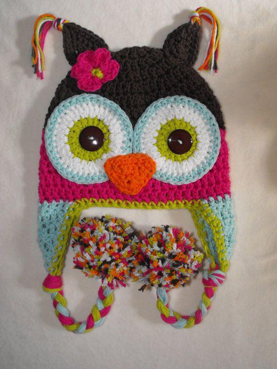 Baby hat, baby hat, owl hat, crochet kids hat, crochet baby hat ...