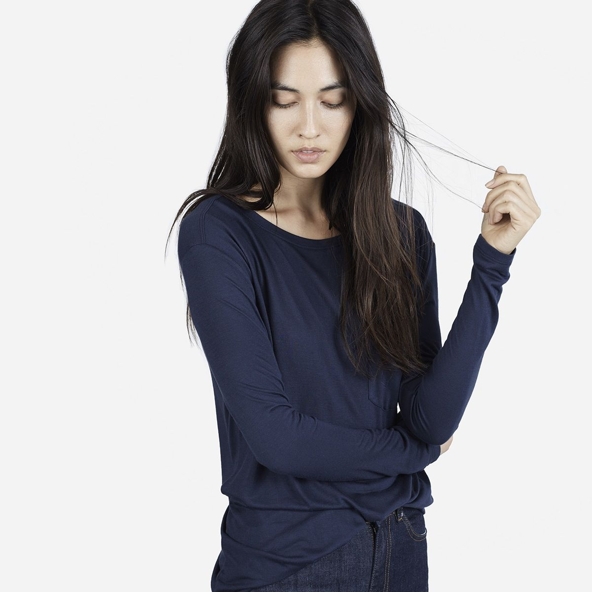 A graceful long sleeve cut in a luxe rayon fabric rayon rayon