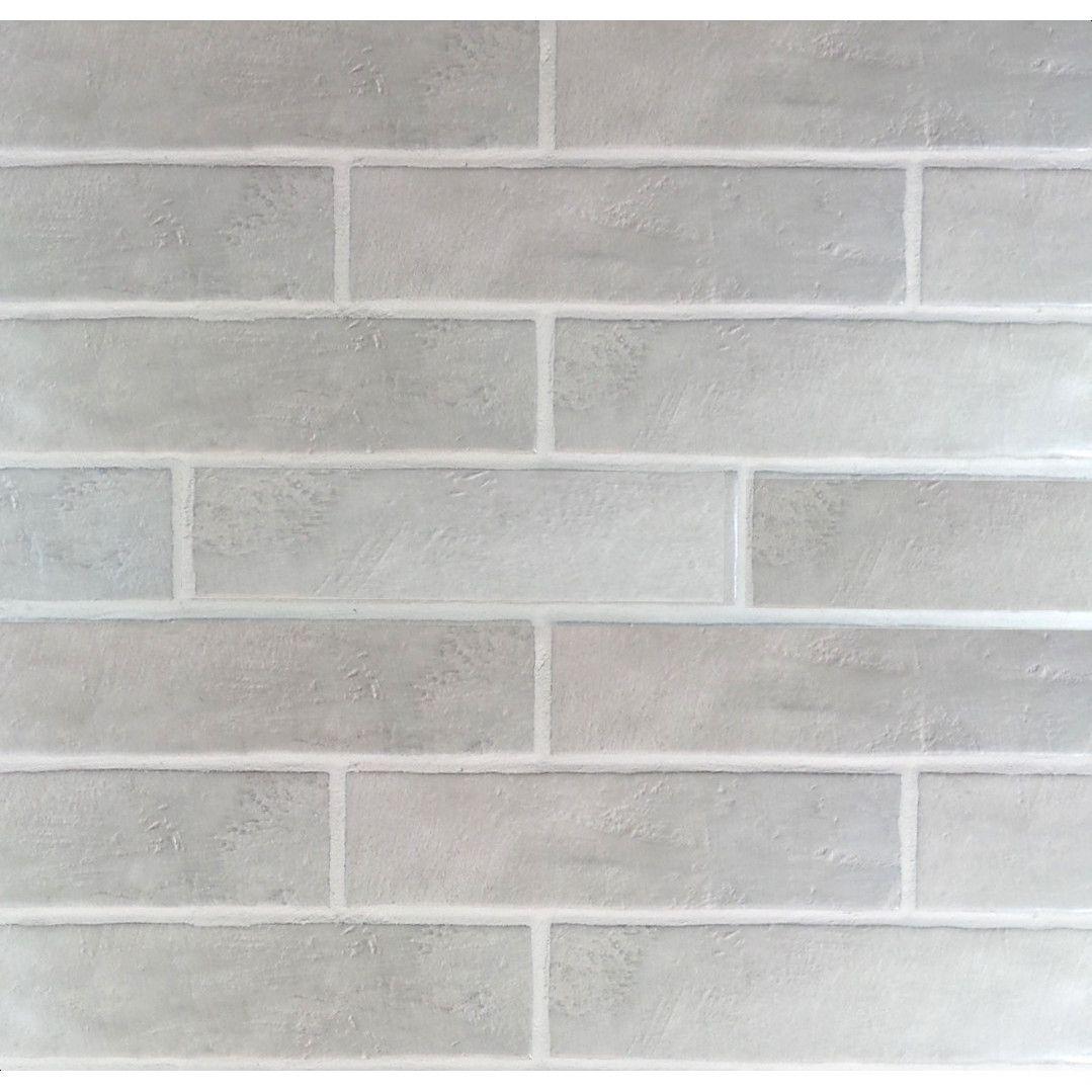 Mulia Tile Loft Ceramic Subway Tile In Gray Master Bath