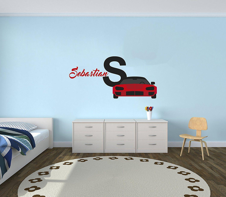 Custom Name Sport Car Luxury Best Seller Series Baby Boy Decoration Mural Wall Decal Sticker For H Baby Boy Decorations Kid Room Decor Wall Decal Sticker [ 1311 x 1500 Pixel ]