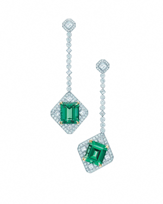 52fd6a847 Tiffany & Co. Diamond and Emerald Earrings #diamonddropearrings ...