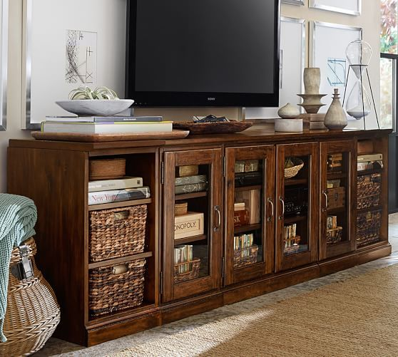 How to arrange my credenza to hide Blue Ray Movies. Look for ...
