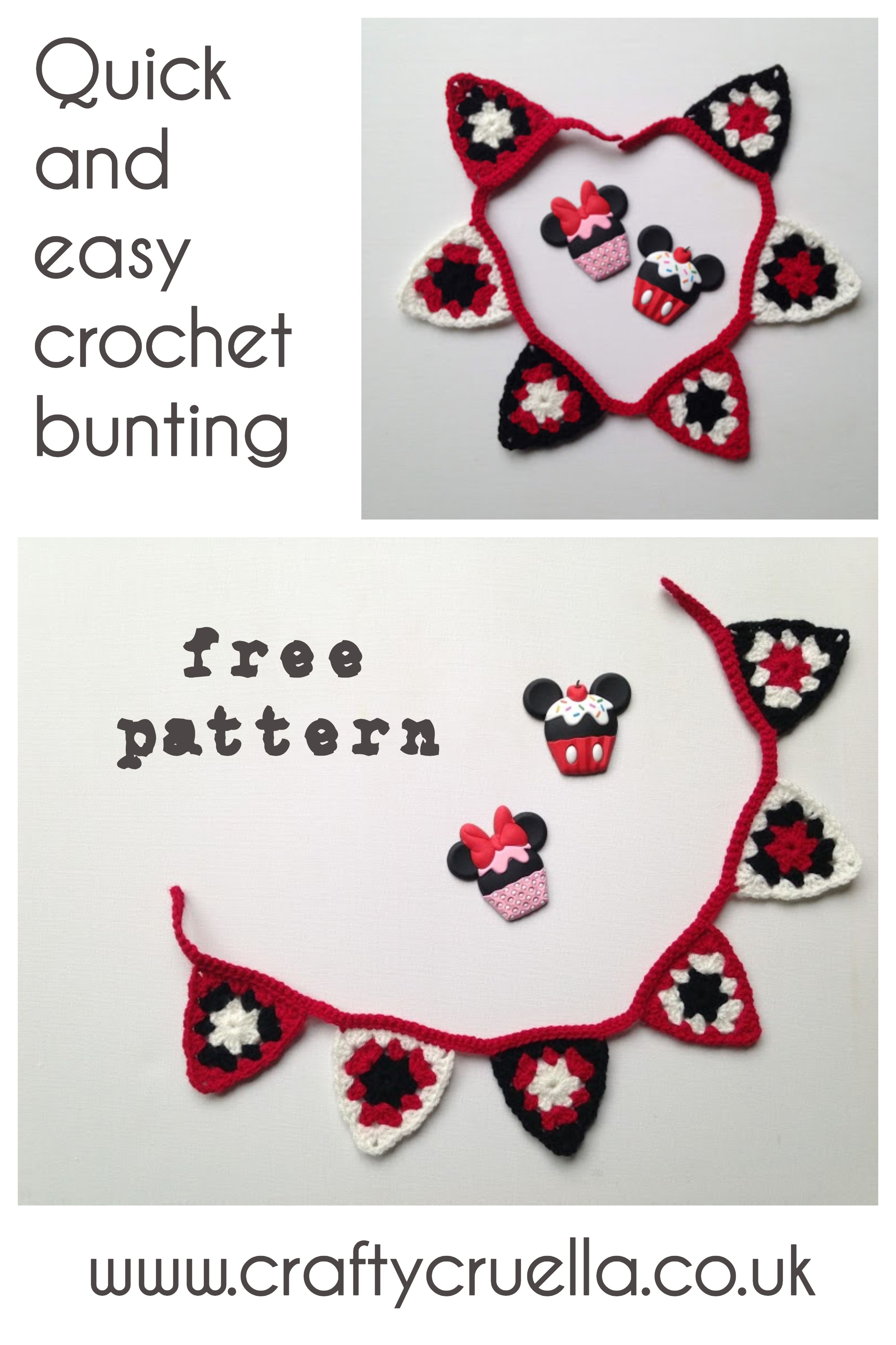 Quick and Easy Crochet Bunting | crochet | Pinterest | Ganchillo ...