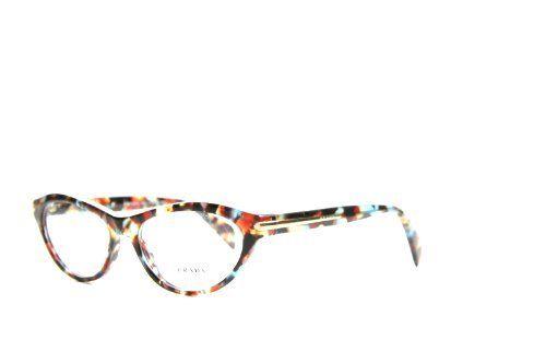 f874ddfa815 New Prada PR VPR 18P NAG Spotted Blue Red Brown Havana Frame Plastic Eyeglasses  Prada.  180.00