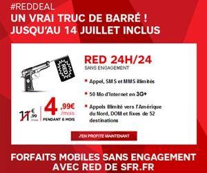 Red De Sfr Promo S En Cours Sur Les Forfaits Mobile Forfait