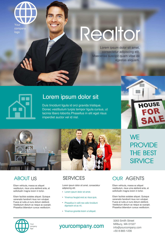 Realtor A5 promotional flyer.