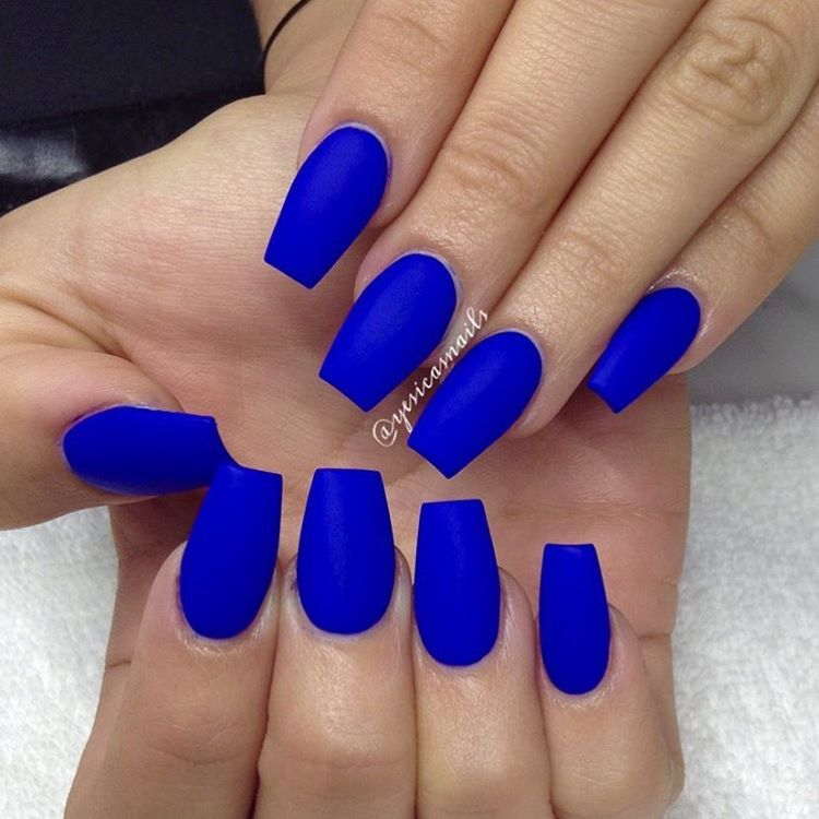 Yesica S Nails On Instagram There S Something About This Blue Bright Night Color Club Bright Acrylic Nails Blue Acrylic Nails Winter Nails Acrylic
