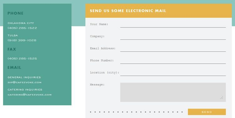 Fresh  Inspiring Contact Page  Form Designs  This Has Some