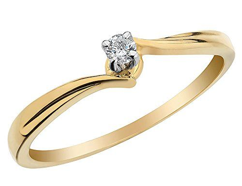 Diamond Promise Ring in 10K Yellow Gold $99.00