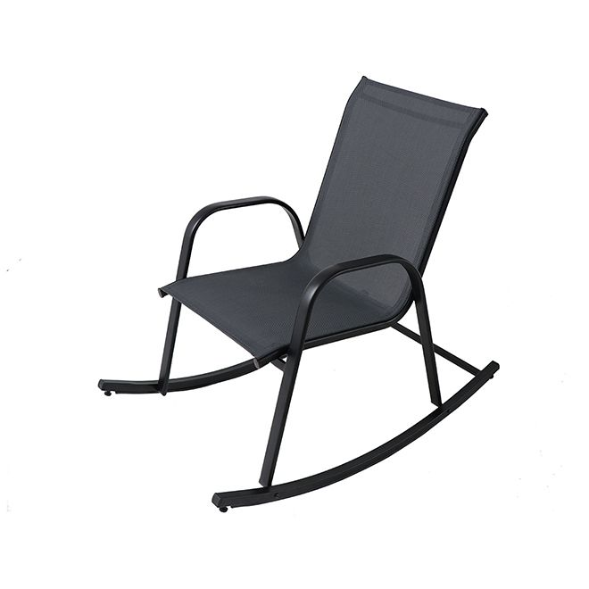 Miraculous Bazik Rocking Chair Steel Dark Grey Fcs70497Rd Rona Evergreenethics Interior Chair Design Evergreenethicsorg