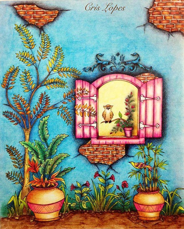 Livro: Spring Flowers da autora Rose Tom. Lindo livro no estilo Vintage. Utilizei lápis de cor Mondeluz. #mondeluz #springflowers #vintage #kumbrasil #kohinoor #kohinoorhardtmuth #kohinoorpencils