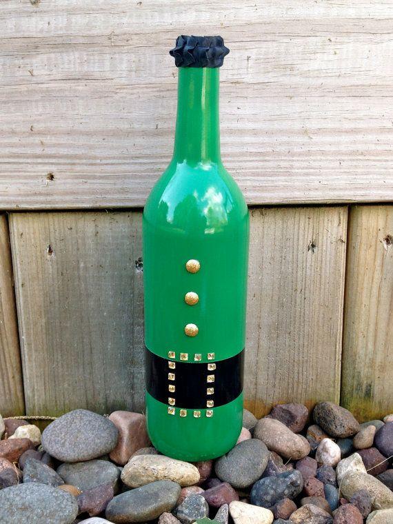 Leprechaun wine bottle cute classy saint by for Cute wine bottles