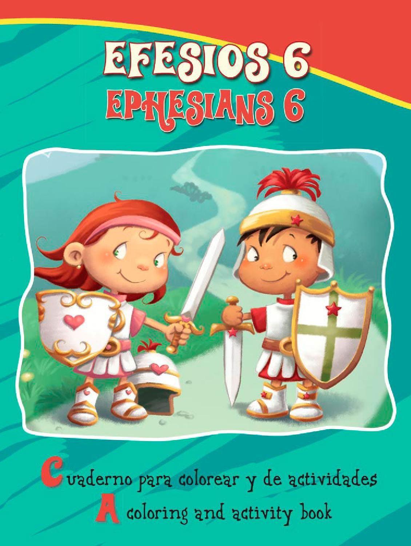 Cuaderno de colorear efesios 6 | Recursos cristianos niños ...