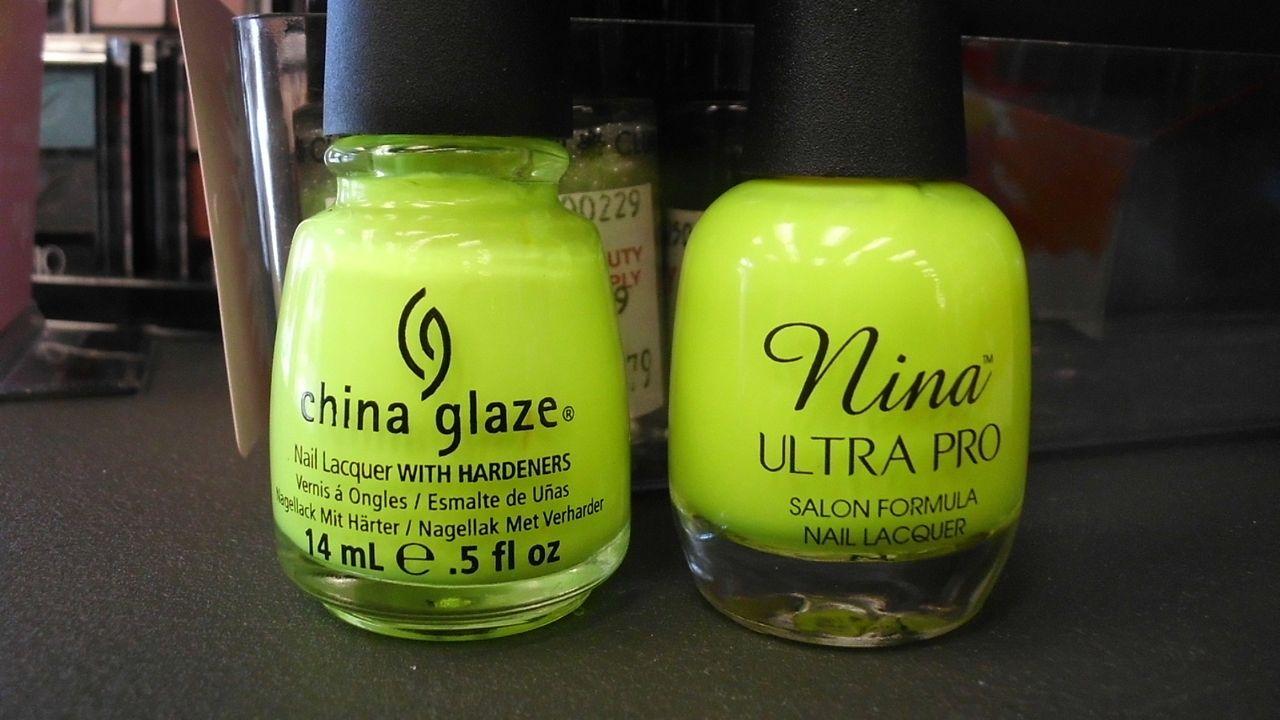 China Glaze: Celtic Sun (neon) Nina Ultra Pro: Solar Flare | Nail ...