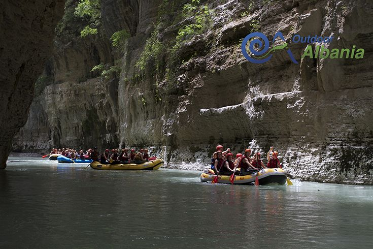 Rafting is the best way to explore the breathtaking views of the Osumi Canyon.
