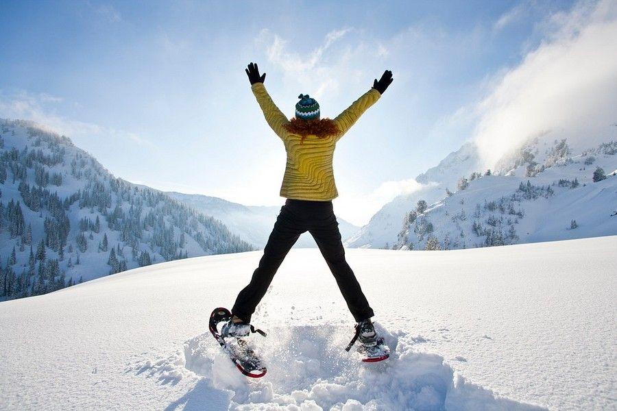 Snowshoeing Workout in a Winter Wonderland Winter adventure
