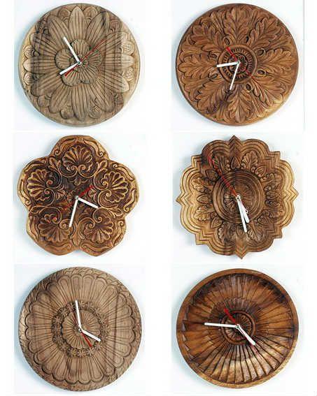Creative Wooden Handicrafts By Craig Anczelowitz Wood Clock