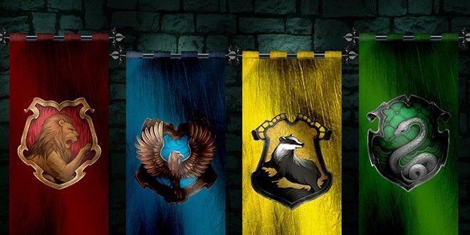 The Marauders as Hogwarts House Representations