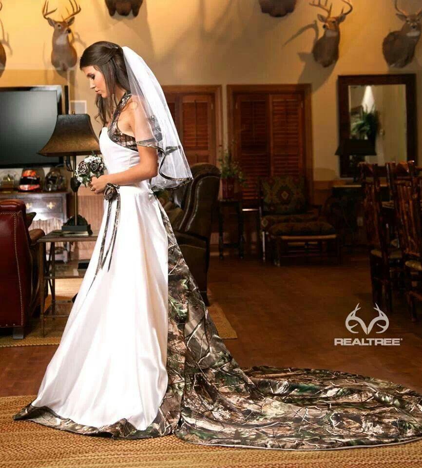 Realtree camo wedding dress wedding in pinterest wedding