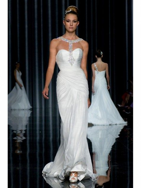 243ba7bcb331 Pronovias ~~ Wedding dress from the Pronovias collection on the runway  during the Spring 2012 Barcelona Bridal Week season on May 13