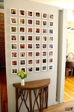 instagram wall. where to get the tiny frames + all! super great idea ...