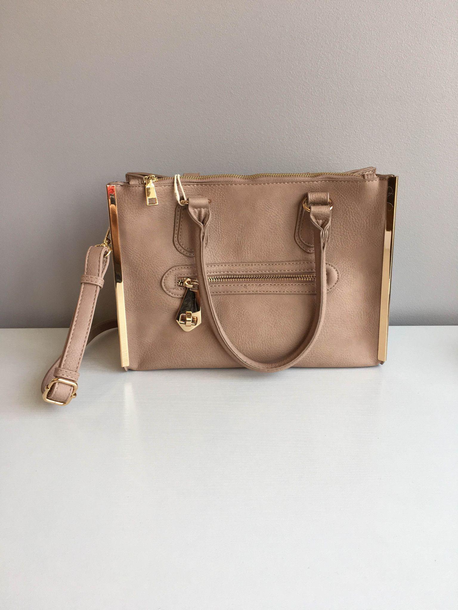Taupe Structured Handbag