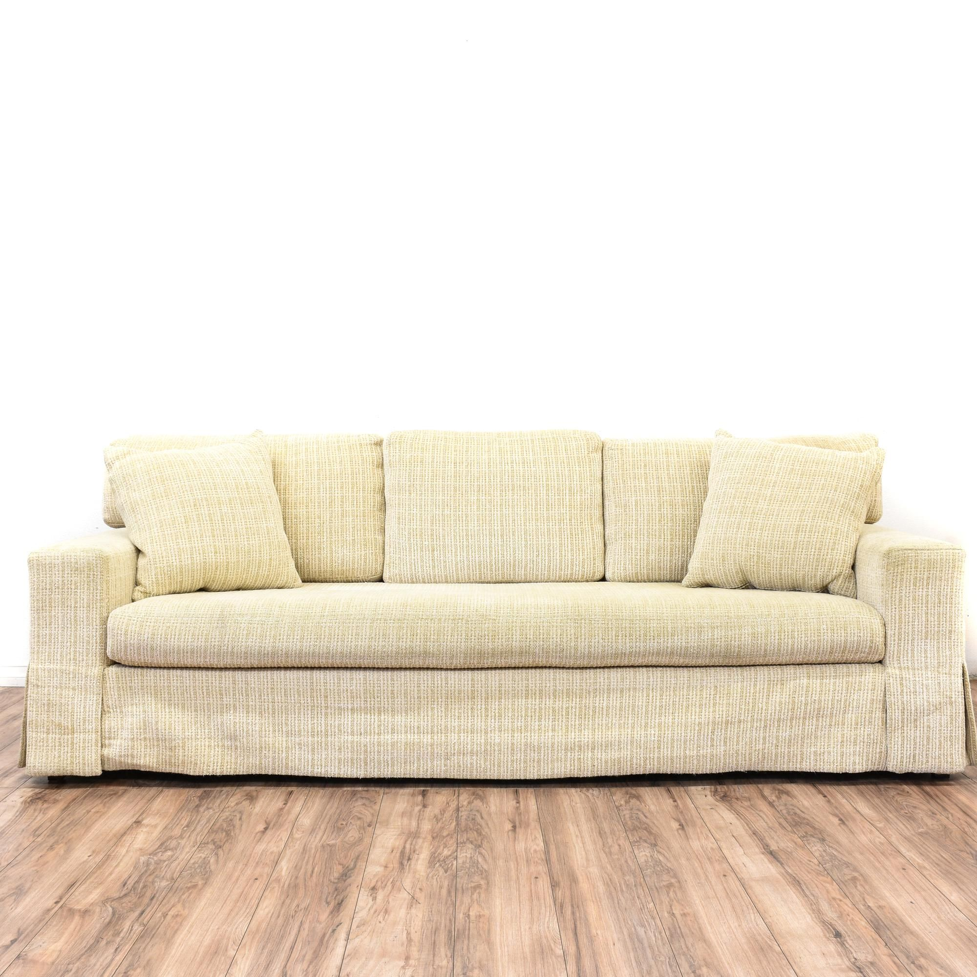 Contemporary Beige Microfiber Sofa | Contemporary sofa, Plush and ...