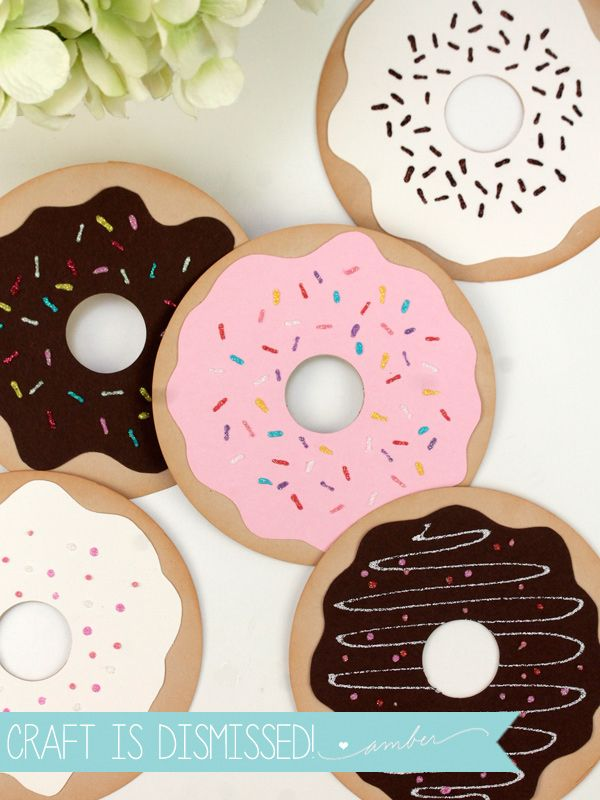 Super Simple Donut Valentines - Damask Love
